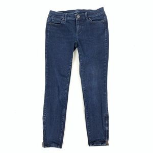 Loft Modern Skinny Jeans With Ankle Zipper size 4